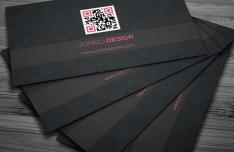 Dark Corporate Business Card PSD