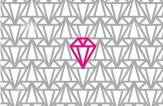 Simple Diamond Pattern Vector