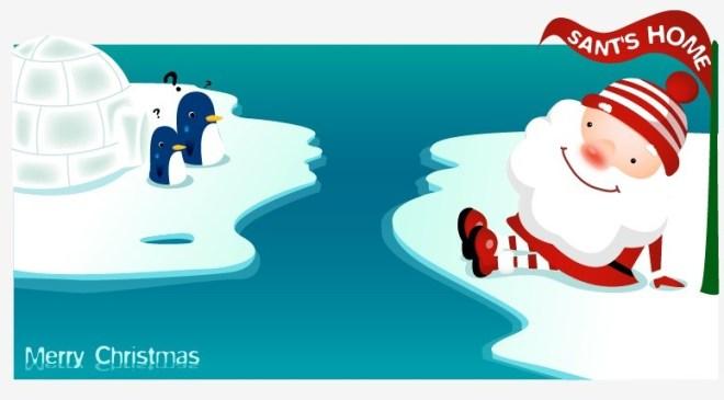 Cute Cartoon Santa Claus Vector 01