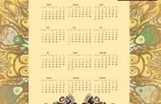 Retro 2015 Calendar Vector