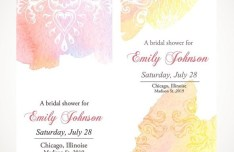 Clean Vertical Floral Invitation Card Templates Vector