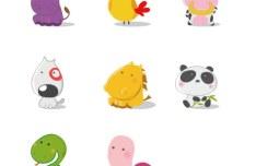 Cute-Cartoon-Animal-Illustrations-Vector