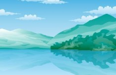 Blue Mountains Illustration Vector