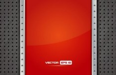 Red Metal Frame Vector