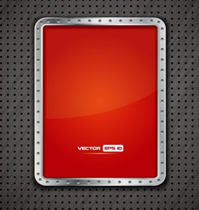Red Metal Frame Vector