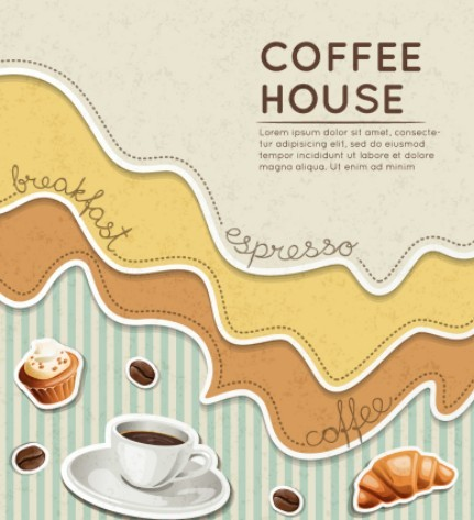 Fresh Coffee House Background Vector