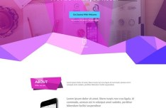 Chorine - Polygon One Page Template PSD