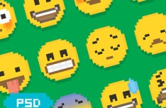 Pixel Emoji Symbols PSD