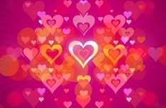 Pink Valentine's Hearts Background Vector