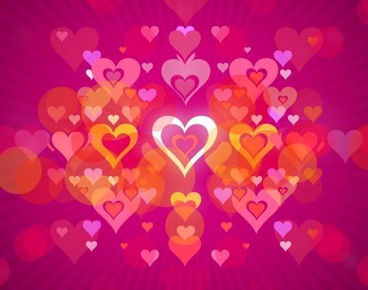 Pink Valentine's Hearts Background Vector