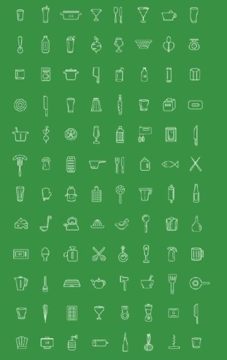 96 Kitchen Vector Icons
