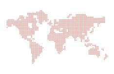 Dotted Vector World Map Vector