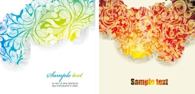 Simple Clean Floral Backgrounds Vector