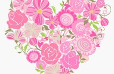 Pink Heart Of Roses Vector