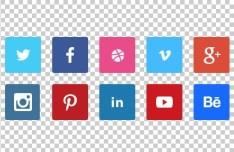10 Tiny Flat Social Icons PSD