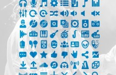 80 Music Icons PSD