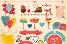 Valentine's Day Vintage Design Pack Vector