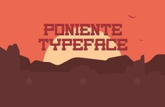PONIENTE Typeface
