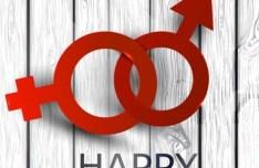 Linked Gender Symbols For Valentine's Day Vector