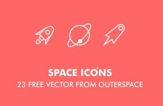 23 Vector Outer Space Icons