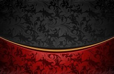 Vintage Red & Black Floral Background Vector