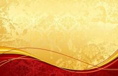 Vintage Red & Gold Floral Background Vector