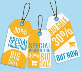 Special Promotion Hanging Tags Vector