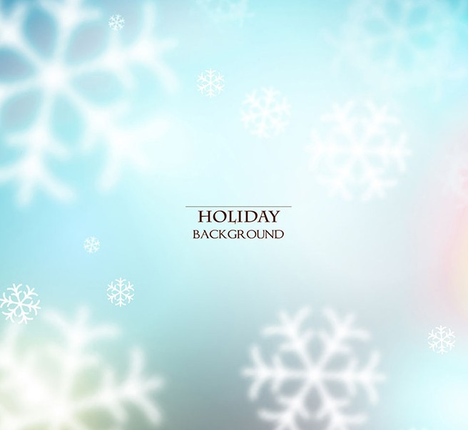 Holiday Snowflakes Background Vector