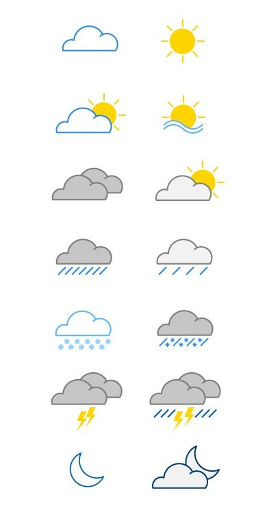 15 Weather Vector Icons