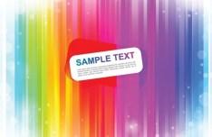 Rainbow Bubbles Background Vector 03