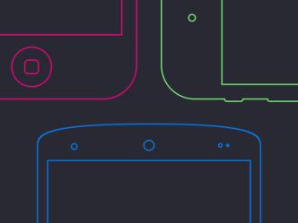 Smartphone Frames PSD