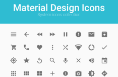 53 Material Design Icons PSD