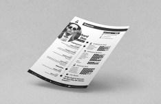 B W Professional Resume Template PSD