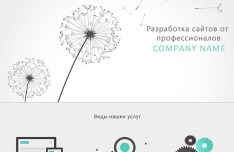 Simple Clean Landing Page Template PSD