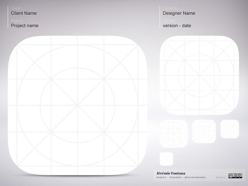 Free iOS Icon Template PSD - TitanUI