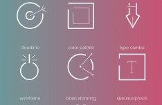 9 Outlined Web UI Icons PSD