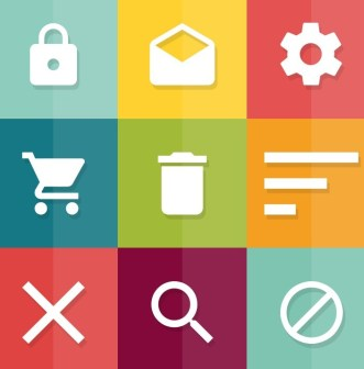 Flat Material Icon Set PSD