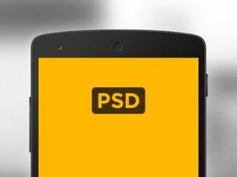 Nexus 5 Android Mockup PSD