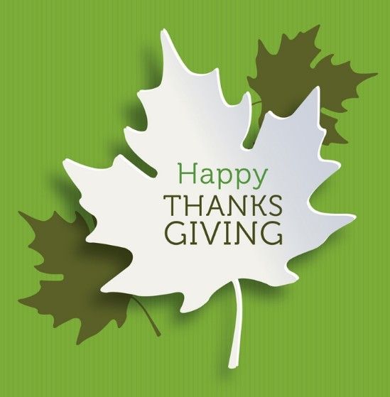 3D Thanks Giving Maple Leaf Vector