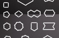 15 Braided Polygon Shapes Vector