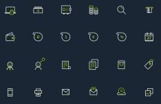 Banking Icon Set PSD