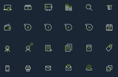 Banking Icon Set PSD