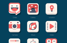 Beautiful Flat iOS Icon Set