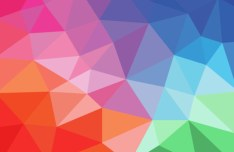 Flat Gradient Geometric Background Vector