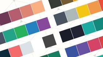 25 Flat Color Palette Vector