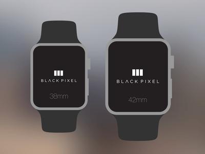Black Pixel Apple Watch Templates PSD