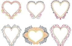Love Heart Frames & Borders Vector