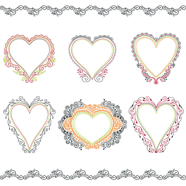 Love Heart Frames & Borders Vector