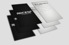 White & Black Realistic Business Card Template
