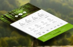 Eco Green Landing Page Template PSD